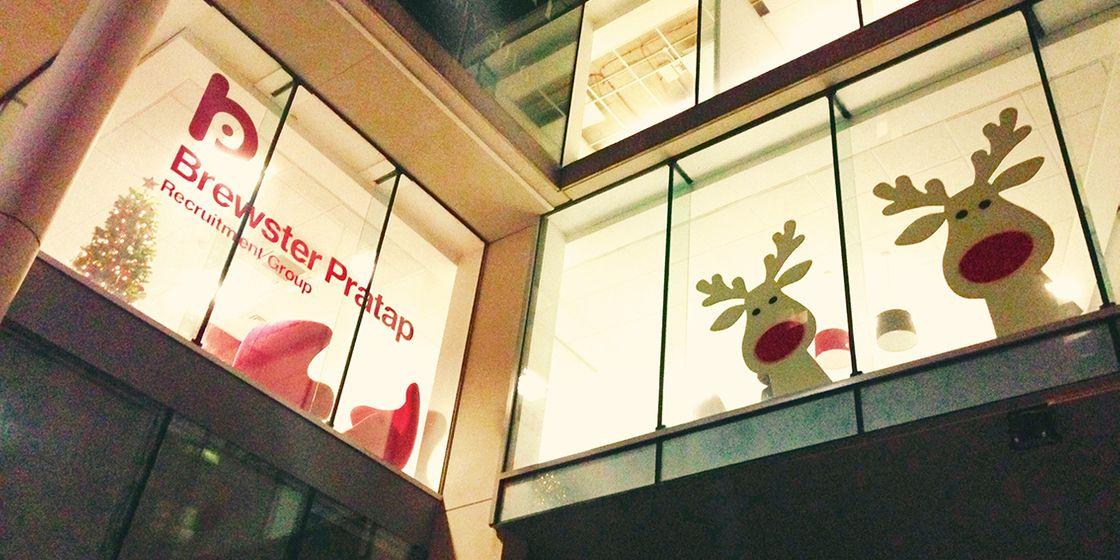 Reindeers visit Brewster Pratap offices in Sheffield
