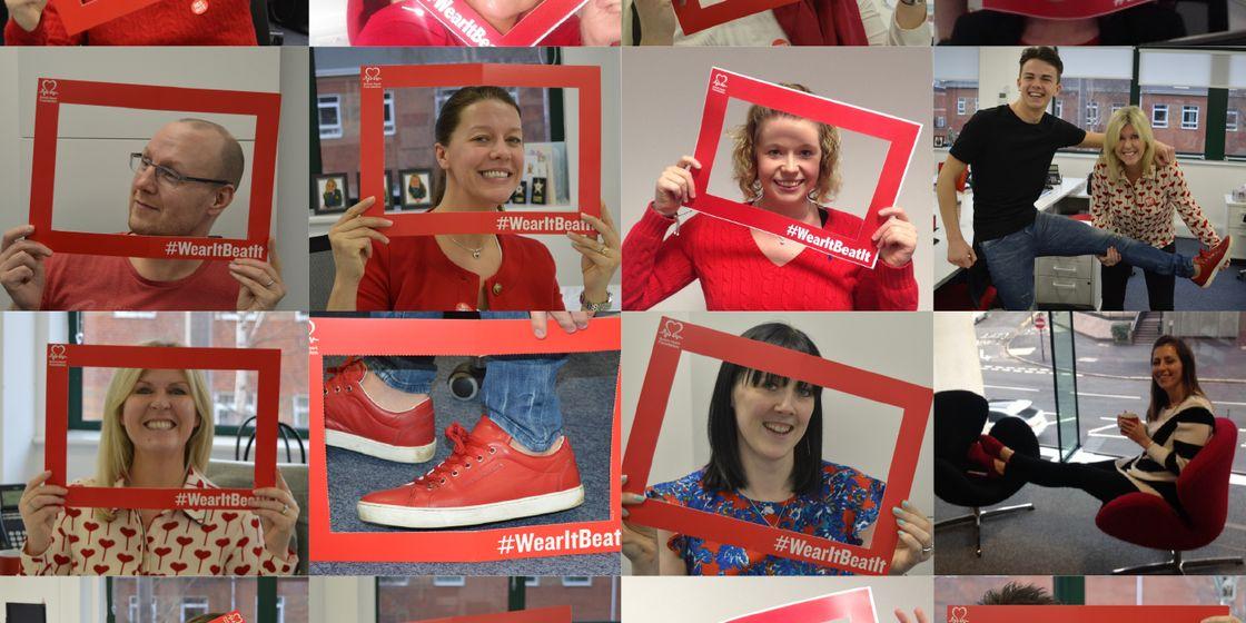 Brewster Pratap 'Wear it red' in aid of British Heart Foundation