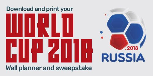 Download and print your FREE World Cup wall chart and sweepstake sheet here