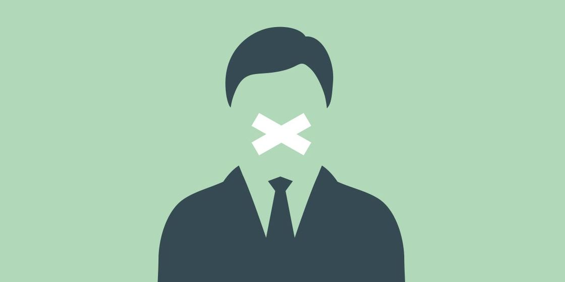 Keeping quiet to keep your job