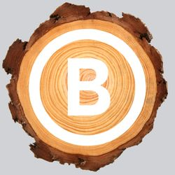 Wood with logo