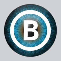 Eye with logo