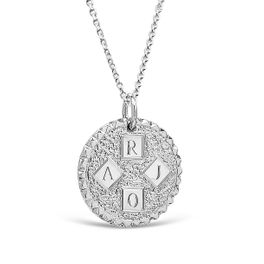 Four Letter 19mm Coin Pendant