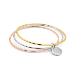 Triple Bangle With Engraved Disc