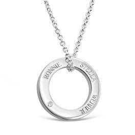 Halo Pendant 1 Diamond