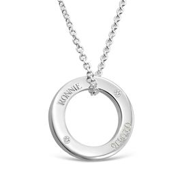 Halo Pendant 2 Diamonds